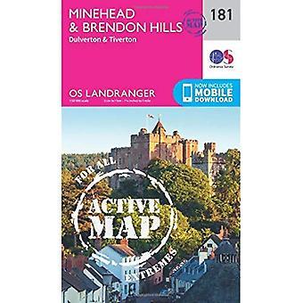 Minehead & Brendon Hills, Dulverton & Tiverton (OS Landranger Map)