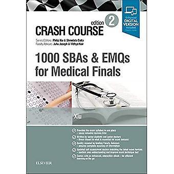 Crash Course 1000 SBAs et EMQs pour finale médicale (cours accéléré)