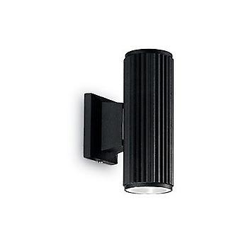Ideale Lux - basis zwarte muur licht IDL129433