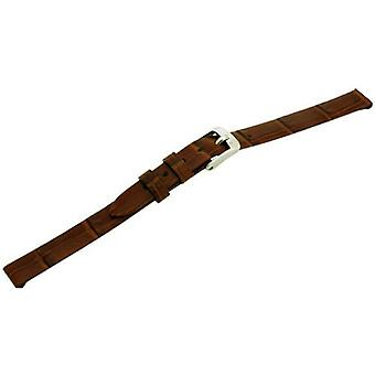 Morellato black leather strap unisex THIN golden brown 08 mm A01D2860656041CR08