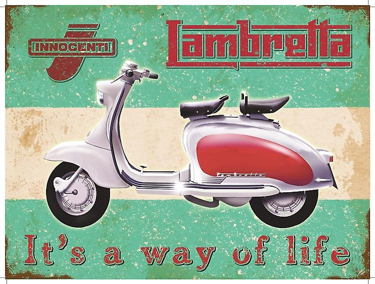 Lambretta Way of Life large metal sign  (og 4030)