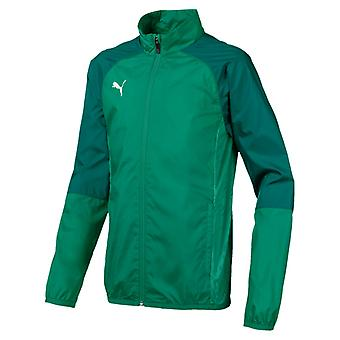 PUMA CUP sideline WovenJKT CoreJr children woven jacket pepper green-Alpine Green
