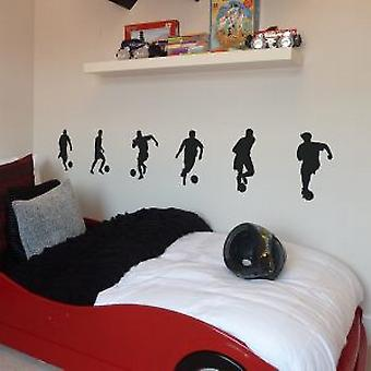 Footballers small pack of six Wall Stickers