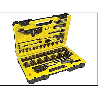 Stanley Tools Tech 3 Socket Set of 78 1/4in & 1/2in Drive