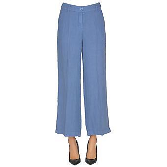 Seventy Blue Linen Pants
