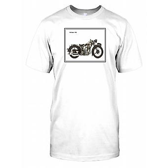 BSA 1930 Sloper - Classic Motorbike Mens T-Shirt
