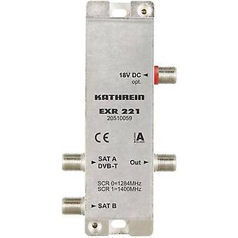 Kathrein EXR 221 SAT single cable multiswitch 2 Inputs (multiswitches): 3 (3 SAT/0 terrestrial) No. of participants: 2 Quad LNB compatible, Standby mode