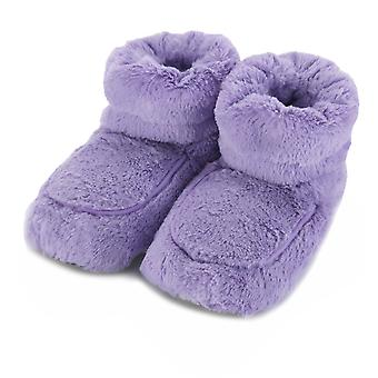 Intelex Cozy Body Microwavable Furry Slipper Boots: Lilac