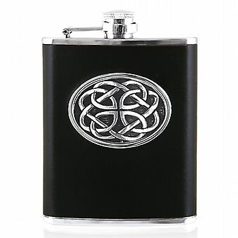 CELTIC 6oz LEATHER FLASK - CEL953