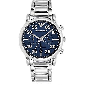 Emporio Armani Ar11132 sport chronograaf blauwe wijzerplaat heren horloge