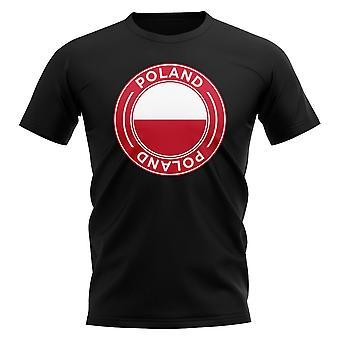 Poland Football Badge T-Shirt (Red)