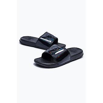 Hype Black Iridescent Sliders