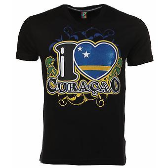 T-Shirt I Love Curacao-Black