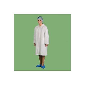 Portwest disposable visitors coat pp d118 box of 200