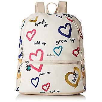 Desigual Bag Natural Message Novara Women - White Women's Backpack Bags (Raw) 12x35.3x28.7 cm (B x H T)