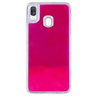 Fall CoolSkin flytande Neon TPU för Samsung A40 rosa