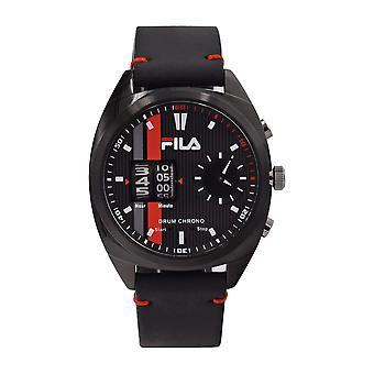 Fila Men's Watch Wristwatch DRUM ROLLER 38-844-004 Leather