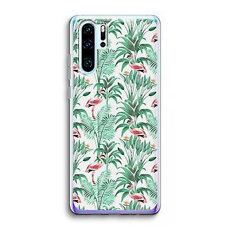 Huawei p30 pro caso transparente (Soft)-folhas de Flamingo