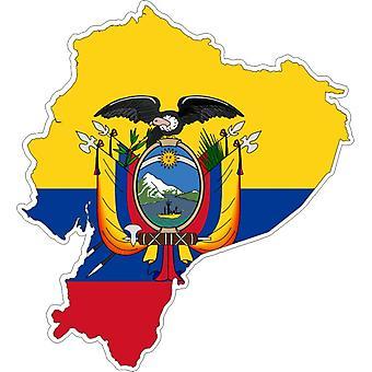 Autocollant Sticker Adhesif Voiture Vinyle Drapeau Carte Equateur
