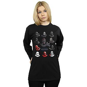 Star Wars der Aufstieg von Skywalker Erste Ordnung Charakter Lineup langärmeligen T-Shirt Frauen's Freund Fit