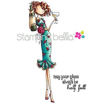 Stamping Bella Cling Rubber Stamp Uptown Girl Opal The Optimist Eb241
