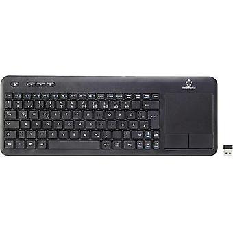 Wireless keyboard Renkforce Touch Wireless Black Touch surface