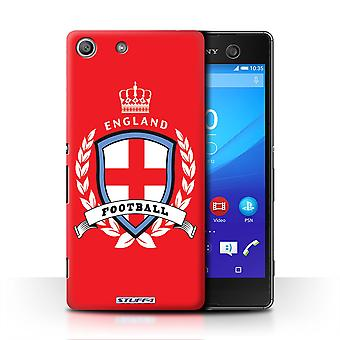 STUFF4 Case/Cover for Sony Xperia M5/England/English/Football Emblem