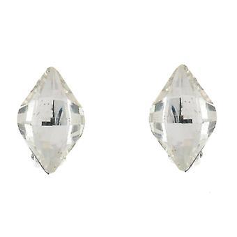 Clip sur le magasin de boucles d'oreilles argent et clair cristal diamant boucles d'oreilles Clip