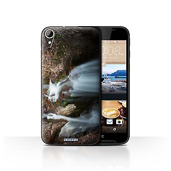 STUFF4 Case/Cover for HTC Desire 830/Rocky Waterfall/Scottish Landscape