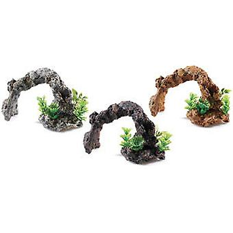 Classic For Pets Rocky Arch / Plants  3pcs (Fish , Decoration , Rocks & Caves)