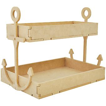 Beyond The Page MDF Anchor Shelf-W/2 Trays 11.5