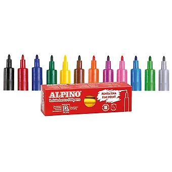 Alpino Box 12 pens Orange (Kids , School supplies , Writting and coloring , To colour)