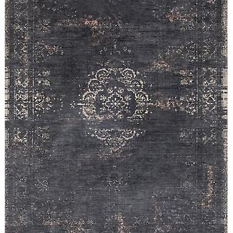 Distressed Black Classic Traditional Square Rug - Louis De Poortere