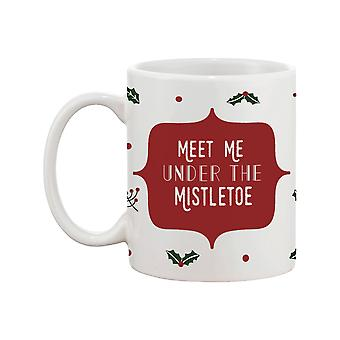 Meet Me Under The Mistletoe 11oz Ceramic Coffee Mug Christmas Gift