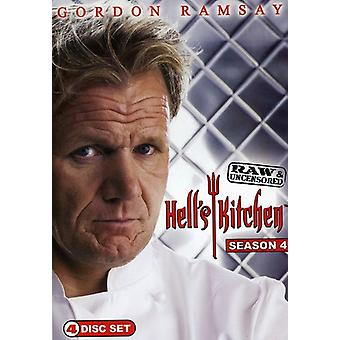 Hell's Kitchen - Hell's Kitchen: sæson 4 Raw & Uncensored [DVD] USA importerer