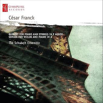 C. Franck - C Sar Franck: Kvintet for klaver og strygere i F mol; Sonate for Violin og klaver i en [CD] USA importerer