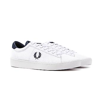 Fred Perry Spencer Mesh White & Navy Trainers