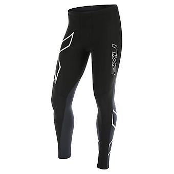 2XU Herren Laufhose G:2 Wind Defence Thermal Compression Schwarz - MA4179b-0003