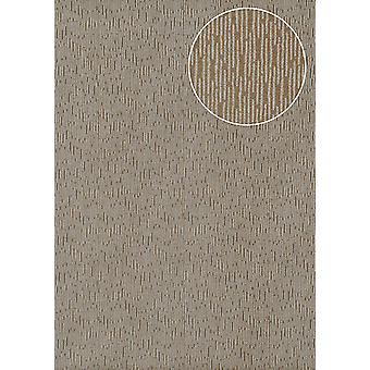 High-quality tone on-tone wallpaper Atlas COL-544-7 non-woven wallpaper smooth with abstract pattern shimmering brown beige gray terra-Brown silber 5.33 m2