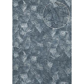 Embossed wallpaper Atlas STI-5102-6 non-woven wallpaper embossed in leather optics shimmering blue pigeons blue blue-eyed 7,035 m2