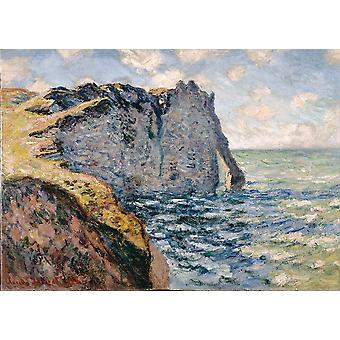 Claude Monet - The Cliff of Aval Poster Print Giclee