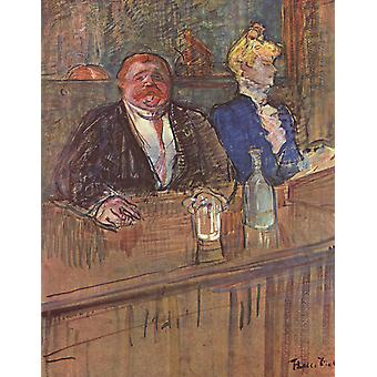 Henri Toulouse Lautrec - In the Bar Poster Print Giclee