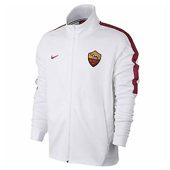2017-2018 AS Roma Nike authentische Franchise-Jacke (weiß) - Kinder