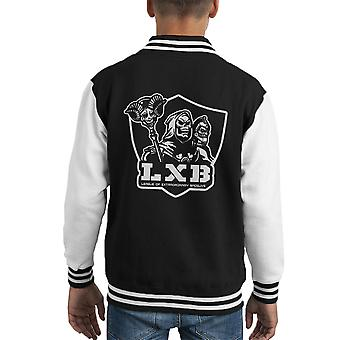 League of Extraordinary Badguys Masters Of The Universe Kid's Varsity Jacket