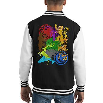 Game Of Varsity Jacket Thrones emblemi capretto