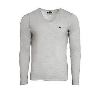 CARISMA sweat men's long-sleeved grey sweatshirt with chest pocket