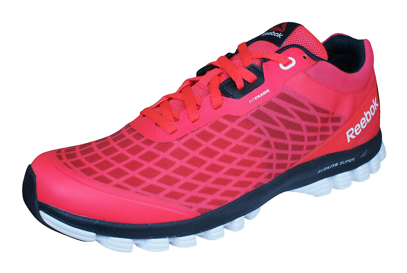 Reebok Sublite Super Duo Mens Running Trainers / Shoes - Red