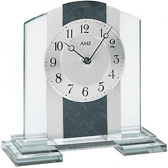 Table clock, quartz table clock aluminium Edition of slate application