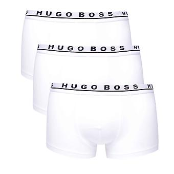 BOSS 3 Pack White Cotton Boxer Trunks