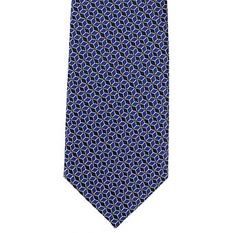 Michelsons of London Interlinking Geo Polyester Tie - Blue